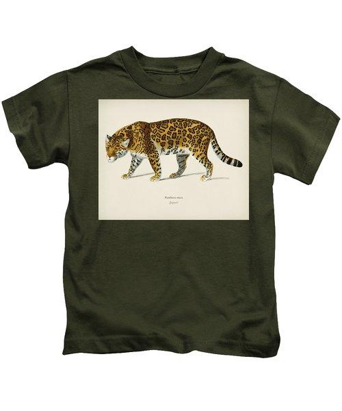 Jaguar  Panthera Onca  Illustrated By Charles Dessalines D  Orbigny  1806 1876  Kids T-Shirt