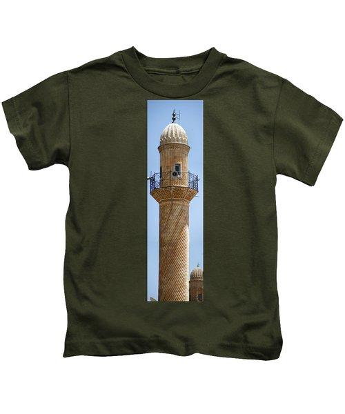 Minaret Of Ulu Cami Mosque Kids T-Shirt