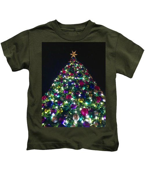 Kids T-Shirt featuring the photograph O Christmas Tree by Chris Montcalmo