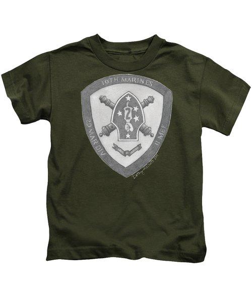 10th Marines Crest Kids T-Shirt