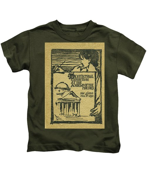 1894-95 Catalogue Of The Architectural Exhibition At The Pennsylvania Academy Of The Fine Arts Kids T-Shirt