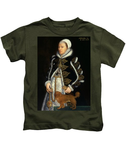 Portrait Of A Woman, Probably Catherine Carey, Lady Knollys Kids T-Shirt
