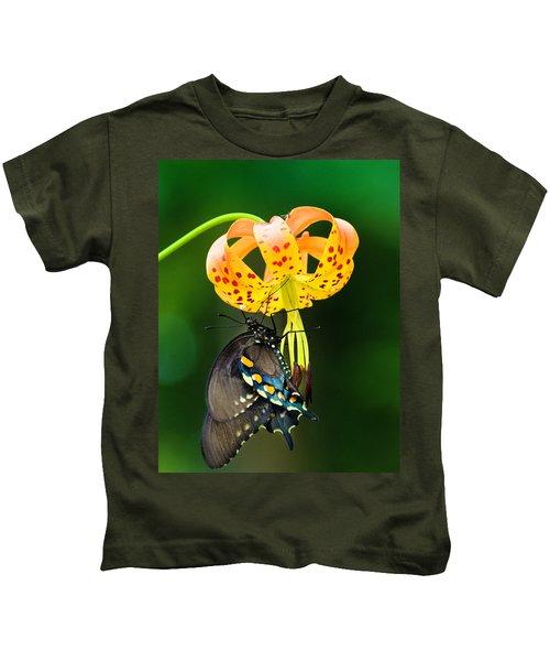 Swallowtail On Turks Cap Kids T-Shirt