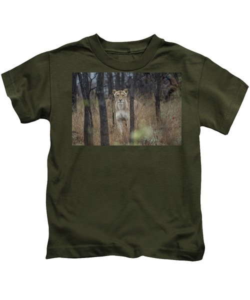 A Lioness In The Trees Kids T-Shirt