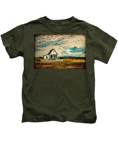 A Lone Prairie Church Kids T-Shirt