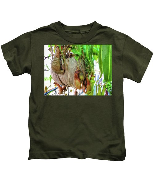 A Pitcher Plant On Our Terrace In Thailand Kids T-Shirt