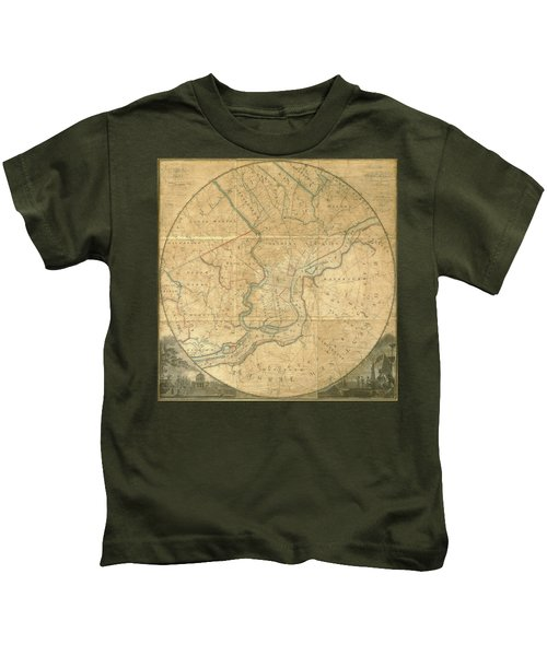 A Plan Of The City Of Philadelphia And Environs, 1808-1811 Kids T-Shirt