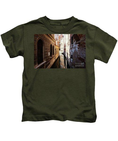 A Shadow In The Venetian Noon Narrow Canal Kids T-Shirt