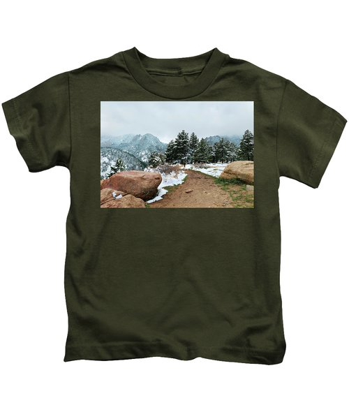 A Winter's Day In The Flatirons Kids T-Shirt