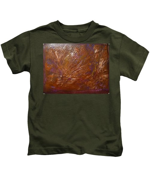 Abstract Brown Feathers Kids T-Shirt