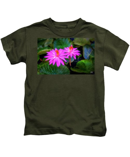 Abstracted Water Lilies Kids T-Shirt