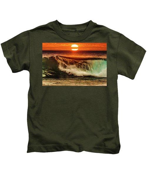Ahh.. The Sunset Wave Kids T-Shirt