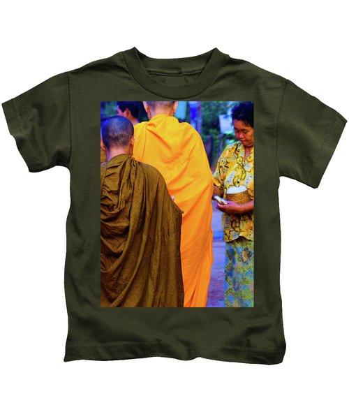 Alms For The Monks Kids T-Shirt