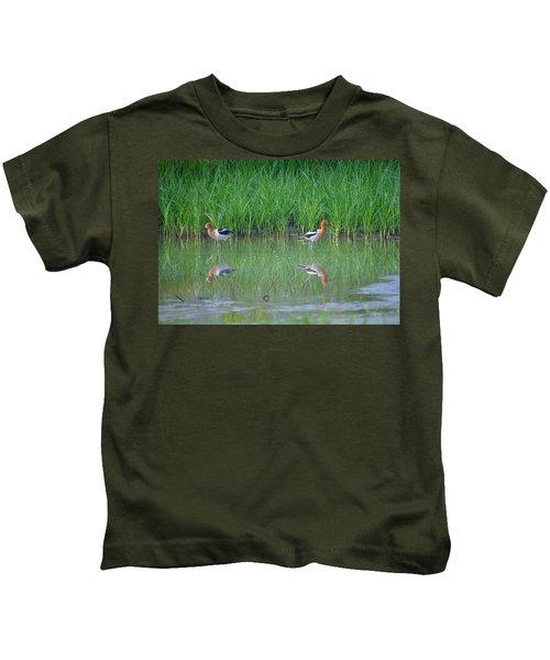 American Avocet Pair Kids T-Shirt