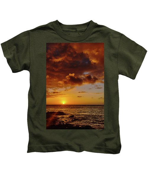And Then The Sun Set Kids T-Shirt