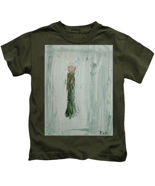 Angel In Green Kids T-Shirt