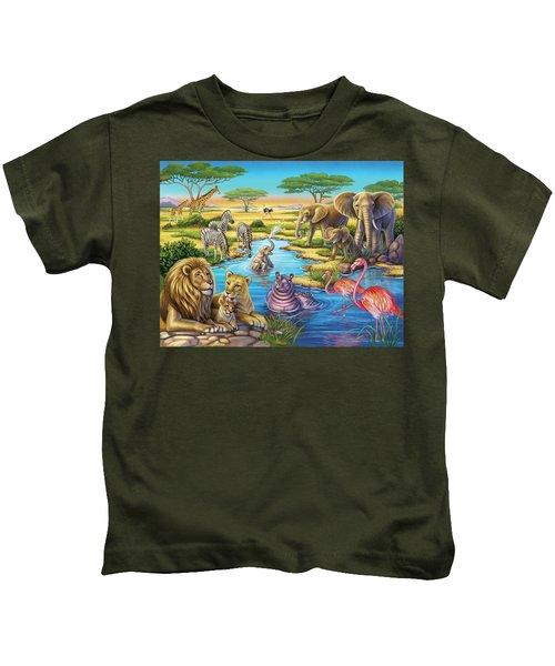Animals In Africa Kids T-Shirt