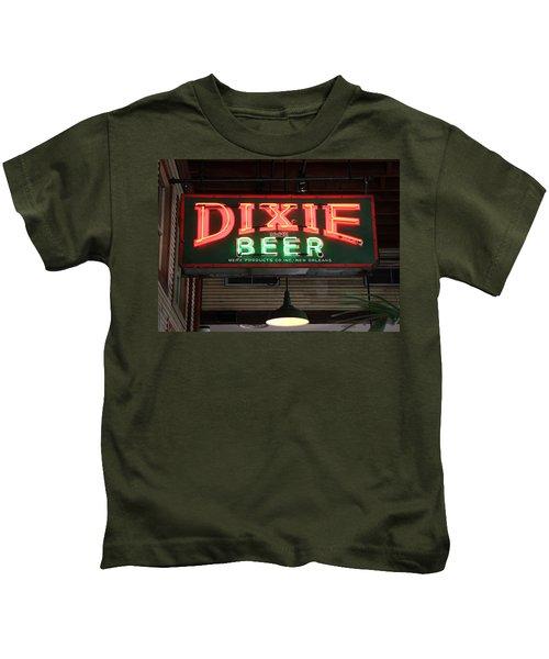 Antique Dixie Beer Neon Sign Kids T-Shirt