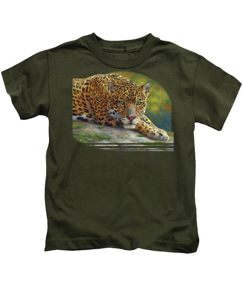 Peaceful Jaguar Kids T-Shirt