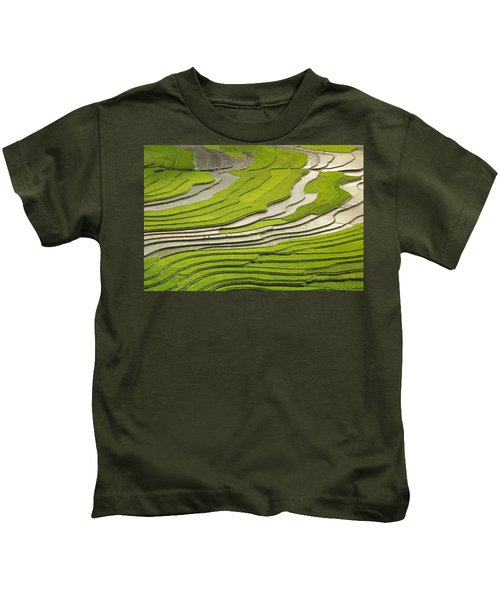 Asian Rice Field Kids T-Shirt