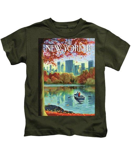 Autumn Central Park Kids T-Shirt
