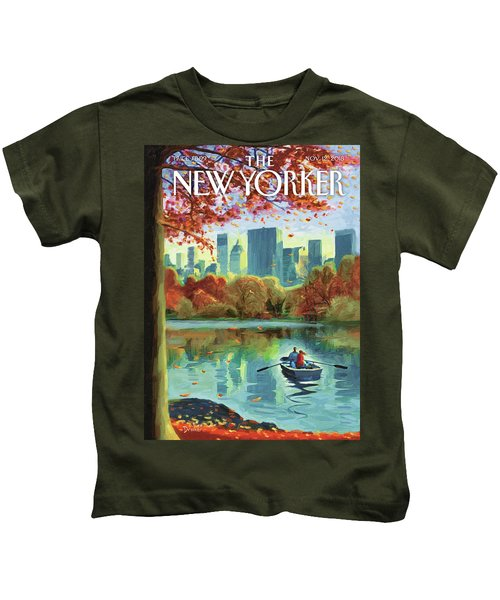 Autumn Central Park Kids T-Shirt