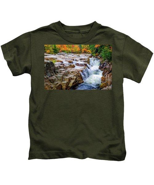 Autumn Color At Rocky Gorge Kids T-Shirt