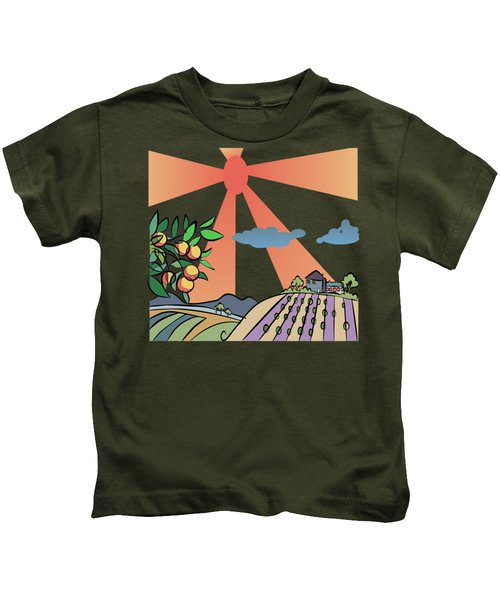 Autumn Harvest Illustration Kids T-Shirt