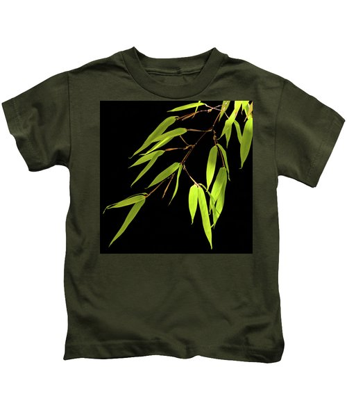 Bamboo Leaves 0580a Kids T-Shirt