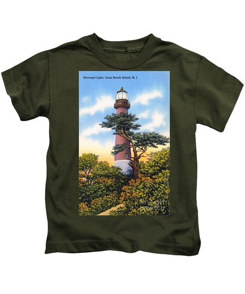 Barnegat Light - With Text Kids T-Shirt