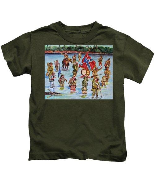 Battle Of Spanish Fort, Mobile Bay 1865 Kids T-Shirt