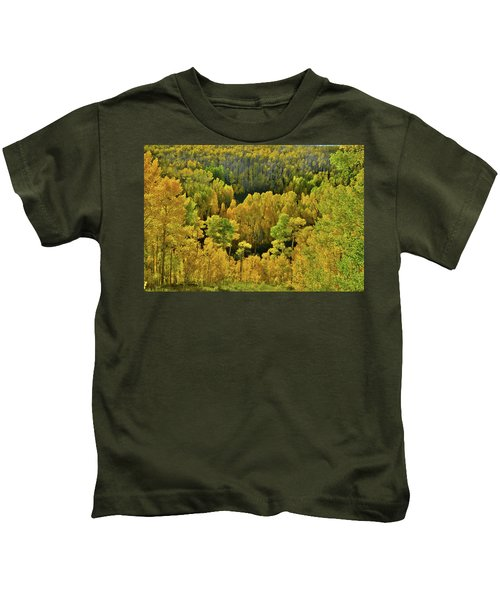 Beautiful Fall Colors At Woods Lake State Wildlife Area Kids T-Shirt