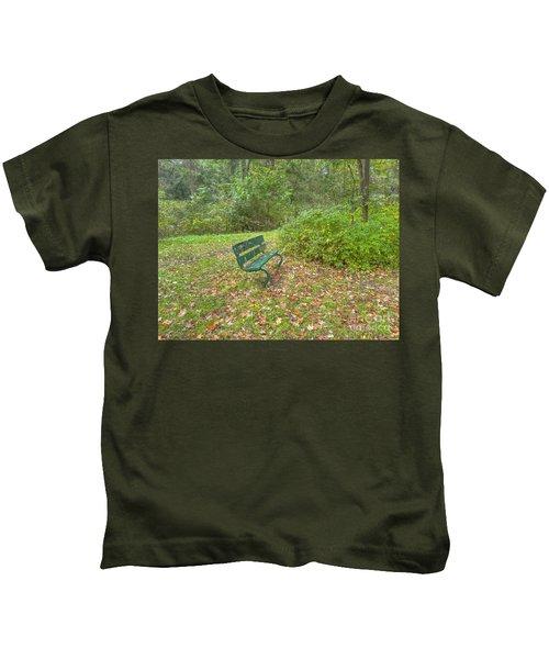 Bench Overlooking Pine Quarry Kids T-Shirt