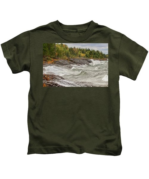 Big Waves In Autumn Kids T-Shirt