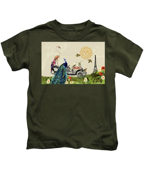 Birds Of A Feather In Paris, France Kids T-Shirt
