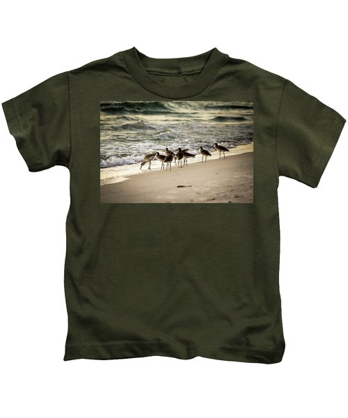 Birds On The Beach Kids T-Shirt