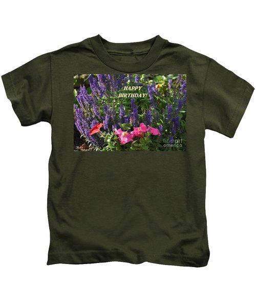 Birthday Flowers Kids T-Shirt
