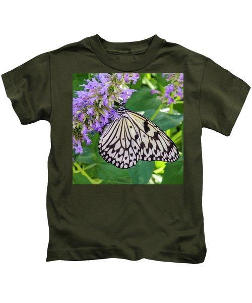 Black And White On Purple Kids T-Shirt
