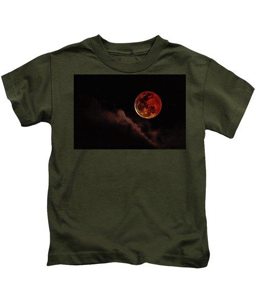 Blood Moon Rising Kids T-Shirt