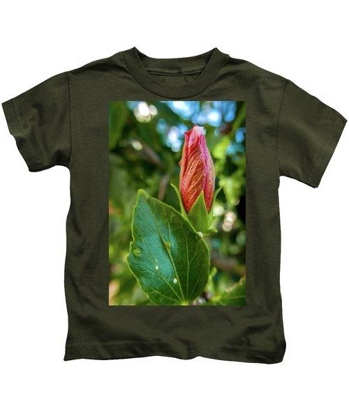 Blooming Hibiscus Kids T-Shirt