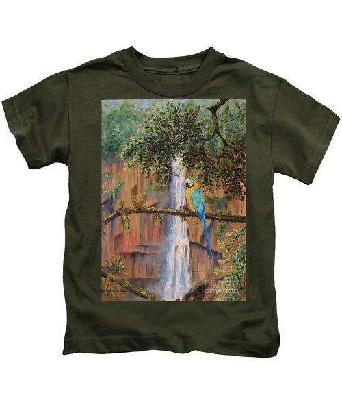 Blue Macaw Kids T-Shirt