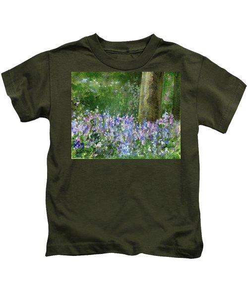 Bluebells Under The Trees Kids T-Shirt