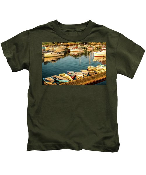 Boats In The Cove. Perkins Cove, Maine Kids T-Shirt