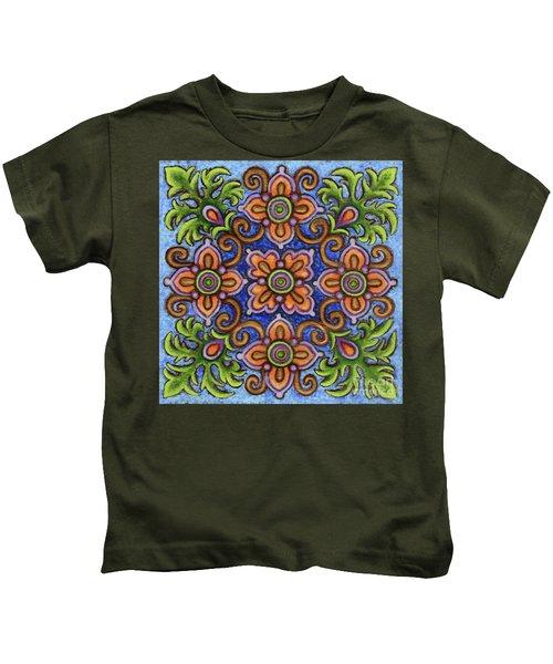Botanical Mandala 1 Kids T-Shirt