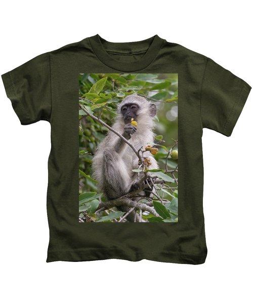 Breakfasting Monkey Kids T-Shirt