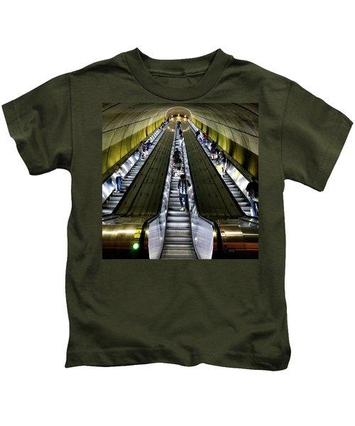Bright Lights, Tall Escalators Kids T-Shirt