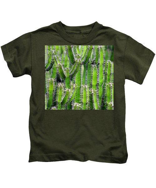 Cacti Wall Kids T-Shirt
