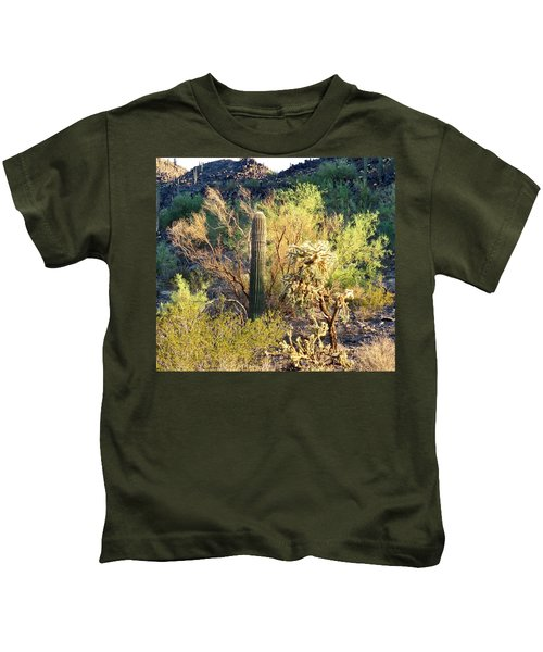 Kids T-Shirt featuring the photograph Cactus Kingdom by Judy Kennedy