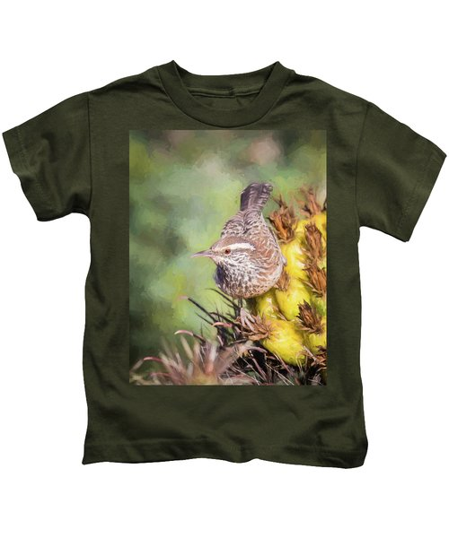 Cactus Wren Kids T-Shirt