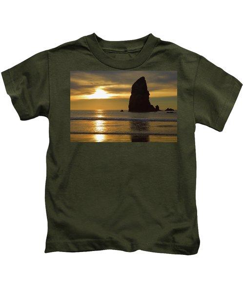 Cannon Beach November Evening Kids T-Shirt
